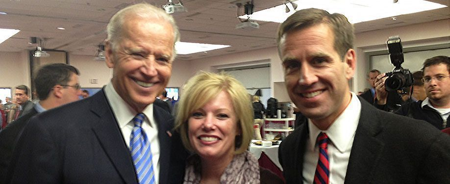 Senator Poore with Vice President Biden and AG Biden